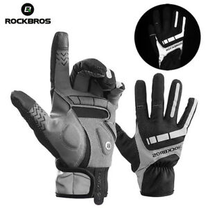 RockBros-Cycling-Warm-Full-Finger-Gloves-Touch-Screen-Phone-Gloves-Black-Gray