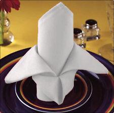 12 NEW PREMIUM WHITE COTTON RESTAURANT WEDDING DINNER CLOTH LINEN NAPKINS 20X20