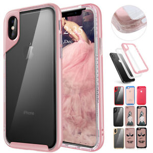 For-iPhone-XS-X-8-7-6s-Plus-Case-Hard-Bumper-Clear-TPU-Rubber-Shockproof-Cover