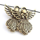5pcs Antique Bronze Angel Girl Wings Design Charms Alloy Pendants Fit Necklace J