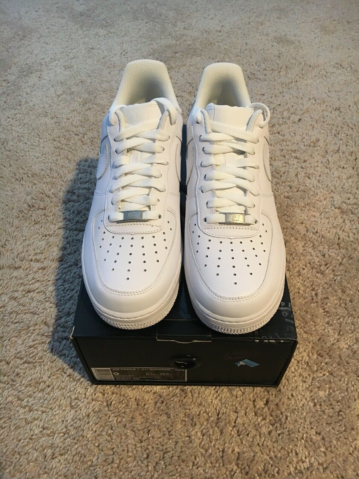 c7c539db4f1 SAMPLE Nike Supreme CDG Eyes AF1 Air Force Flaw Defect Stamp Promo 9 Factory  1 nxtjxy1924-Athletic Shoes