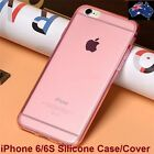 Hot Pink Color Case Skin Crystal Soft TPU Cover For iPhone 6 6S Transparent Flex