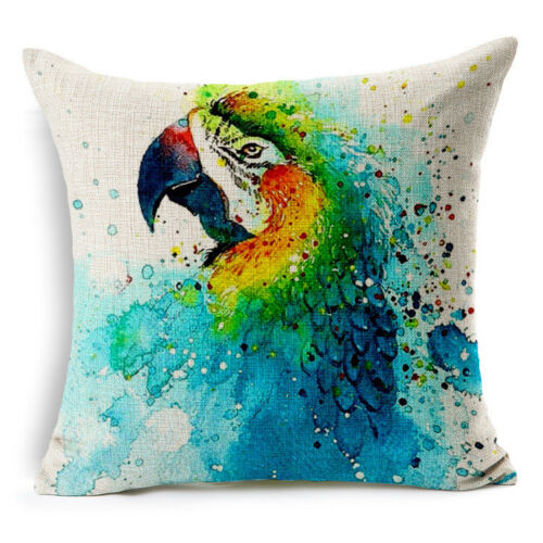 Watercolor Animal Pet Chien Hummingbird Taie D/'oreiller Canapé Voiture Taille Housse de coussin