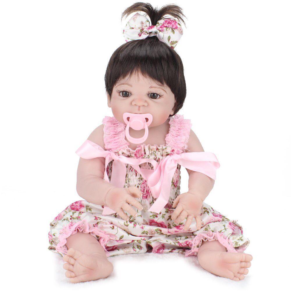 Silicona de cuerpo completo 22  Vinilo Muñeca Reborn Bebé niñas juguete regalo recién nacido realista Nuevo