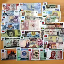 Bahamas Banknotes with Flags Collections Real Paper Money Uncirculated 1pcs