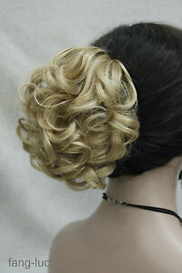 Details about Golden blonde Short Curly Wavy