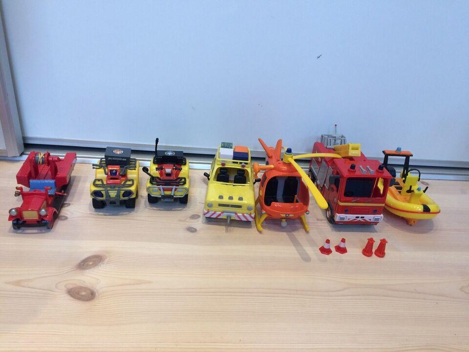 Blandet legetøj, Div. Brandmand Sam legetøj, Brandmand