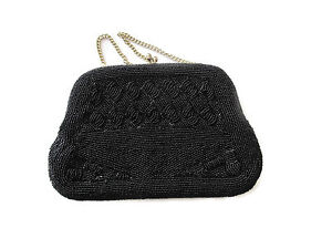 Black-Richere-Beaded-Mid-Century-Handbag-Estate-Find-Made-Japan-Baguette-Formal