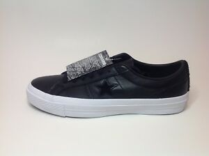 Details about Converse, 155548C, One Star Ox, Black Leather, Mens Size 8, Womens Size 10 Shoes