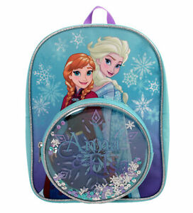 Disney Frozen Snowflake Anna /& Elsa Shiny Childrens Backpack School Bag Rucksack