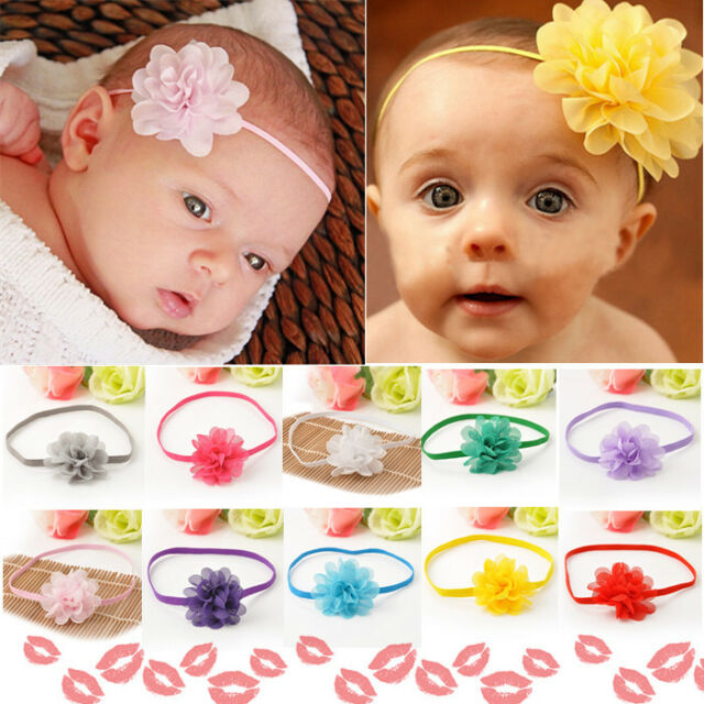 Skin Friendly 10pcs Wholesale Baby Toddler Girls Kids Flower Hair Band Headband