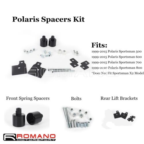 "2/"" Front Spacer Lift Rear Bracket Set For 99-15 Polaris Sportsman 500 600 700"