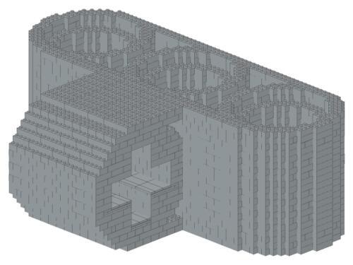 Bauanleitung instruction Landes Gericht Modular Eigenbau Unikat Moc a Lego Basic