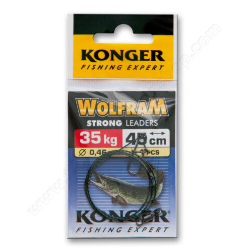 Fishing Wire Traces 35kg 70lb 35cm 45cm Pike Catfish Leader Sea Tackle