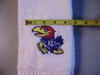 Free Personalizing Custom Made Machine Embroidered Ku Jayhawk Sports Towel