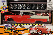 1955 Chevrolet Bel Air Hard Top Garage Worx 1:24 Jada Toys 97057 Reifen Felgen