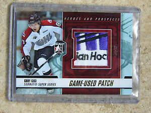12-13-ITG-H-amp-P-Heroes-Prospects-Game-Used-Patch-CODY-CECI-Gold-5