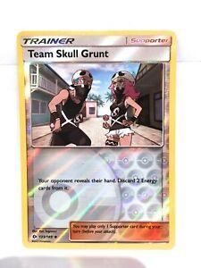 Team Skull Grunt Reverse Holo Pokemon Sun and Moon Base Set 133//149 NM!