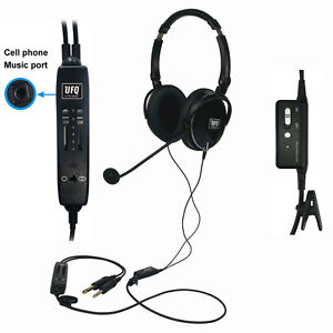 UFQ-A6-ANR-aviation-headset-The-lightest-ANR-aviation-headset-in-the-world-pilot