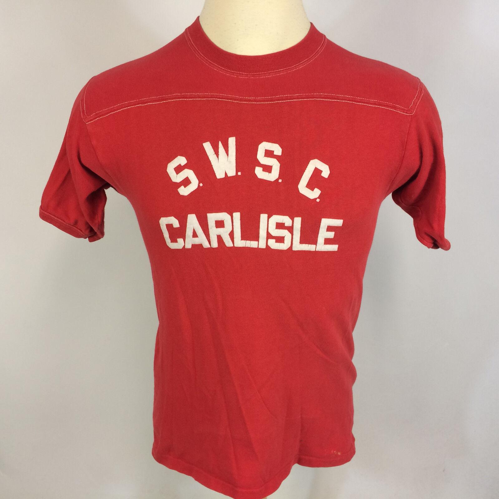 Vintage 70s 80s Stedman Sport T T Shirt Distressed Worn Thin High School Gym M