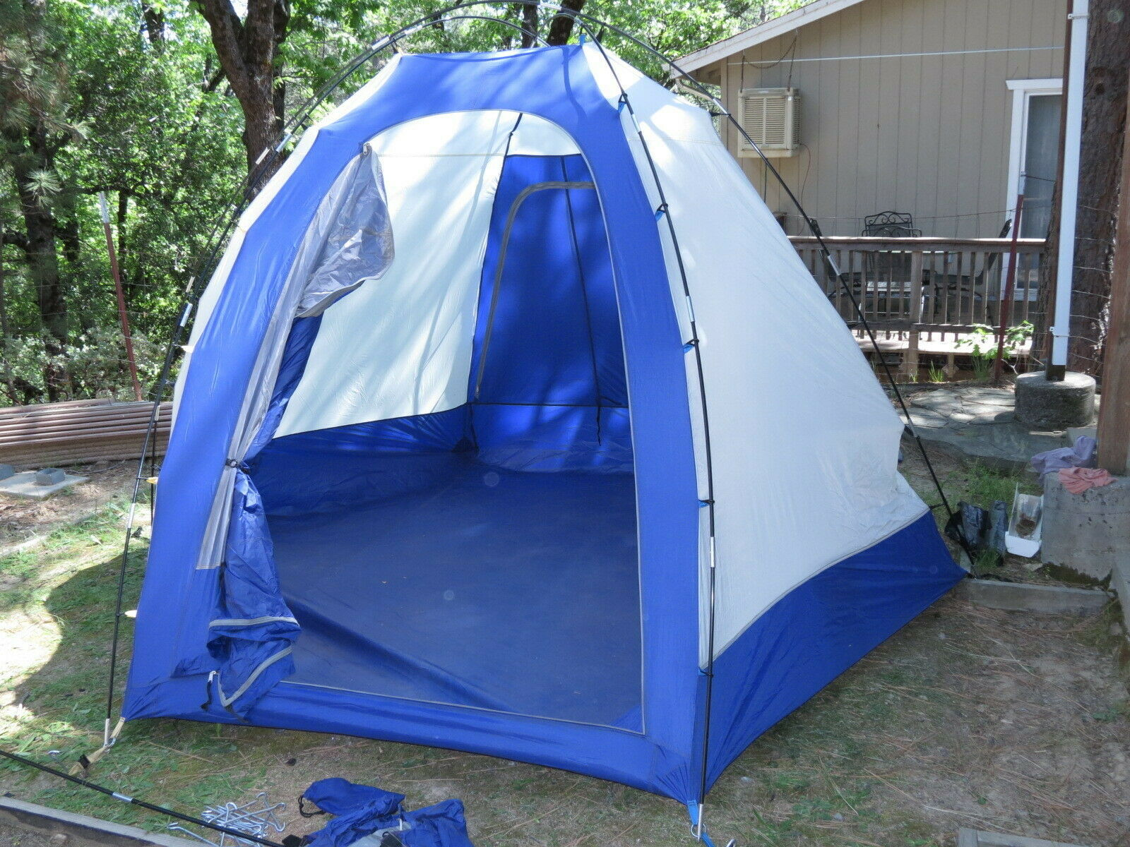 LL BEAN 6-person Hex Dome camping tent w/ accessory awning vestibule, nice used