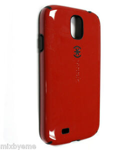 finest selection 2cdc9 1b7e8 Details about SPECK CANDYSHELL CASE SAMSUNG GALAXY S4 Poppy Red/Black Shell  Cover Bumper Skin