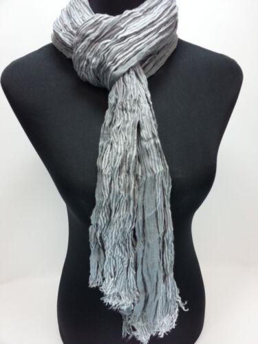 XL Damenschal Halstuch Tuch Schal Streifen Grau-Weiß ca.80cm x 186 cm NEU