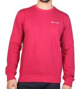 Details zu [NEU] Champion Herren Sweatshirt Sweater Pulli Crewneck Pullover XXL rot pink