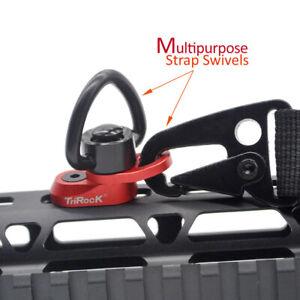 Rouge M-lok Sling Swivel Coeur-forme Boucle Quick Détacher Base Un Trou Pour Snap Clip Hook Spring-afficher Le Titre D'origine