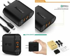 AUKEY 36W 2 Port Qualcomm Quick Charge 2.0 USB Wall Charger PA-T7 - US Plug