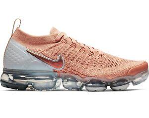 Women-s-Nike-Air-Vapormax-Flyknit-2-Running-Trainer-942843-602-Rose-Gold-UK5-5