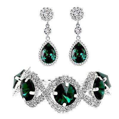 Emerald Green Shiny Jewellery Set