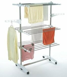TODECO CLOTHES AIRER 3 TIER FOLDABLE LAUNDRY DRYING RACK