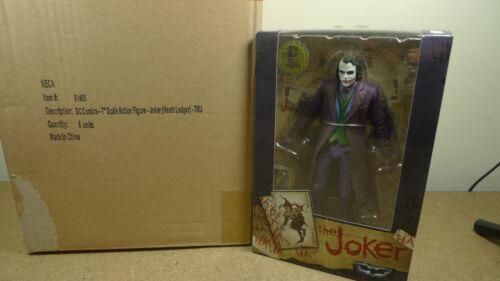 "FREE PENNANT GENUINE Neca 7/"" THE JOKER Heath Ledger Dark Knight Figure DC COMIC"