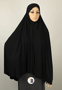 Large 1 Piece Hijab Scarf Khimar Niqab Hajj Umrah Ihram Or Prayer Hijab Ebay