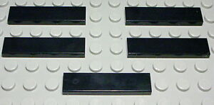 Lego-Fliese-Kachel-1x4-Schwarz-5-Stueck-266