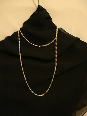 1.2mm // 20 inches // 1.15g 925 Sterling Silver Twisted Curb Chain Necklace