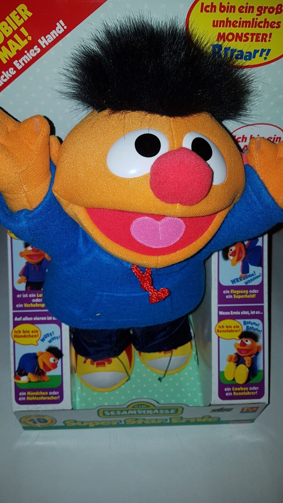 Super Star Ernie Superstar Fisher-Price Ovp Sesamstrasse Bewegung & Ton - ab 18M