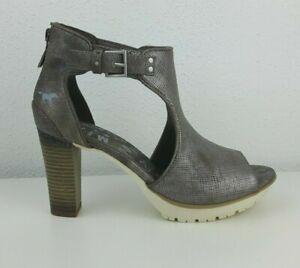 sports shoes 88869 569ed Details zu 1213-802-258 Mustang Damen Schuh NEU Offene Sandalen Titan