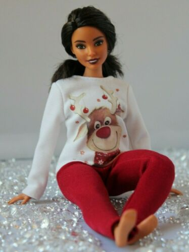 №245 Clothes for Curvy Barbie Doll Blouse and Leggings for Dolls.
