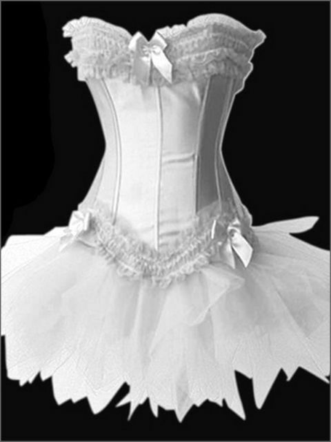 Burlesque Corset & tutu /skirt Fancy dress outfit Moulin Rouge Can Can outfit