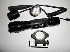 UltraFire WF-501B RCR123A Xenon 9V Tactical hunt Flashlight Mount Pressure Swtch