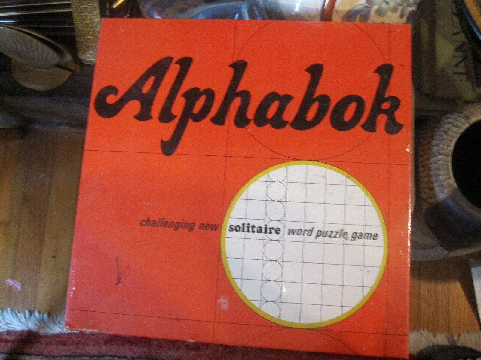 Nuovo NIB Alphabok Solitaire Word Puzzle Game Springbok