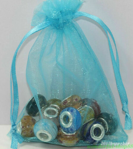 25//50pcs Organza Sheer Wedding Party Favour XMAS Gift Bags Candy Jewellery Pouch