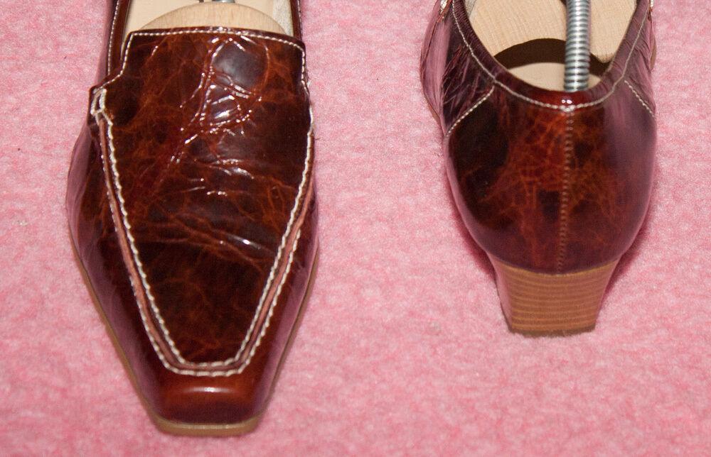 GABOR ♥ Pumps ♥ Loafer ♥ Schuhe 38 ♥ Gr. 5 / 38 Schuhe ♥ NEUw  ♥ Lack Leder ♥  Bordeaux 293a8b
