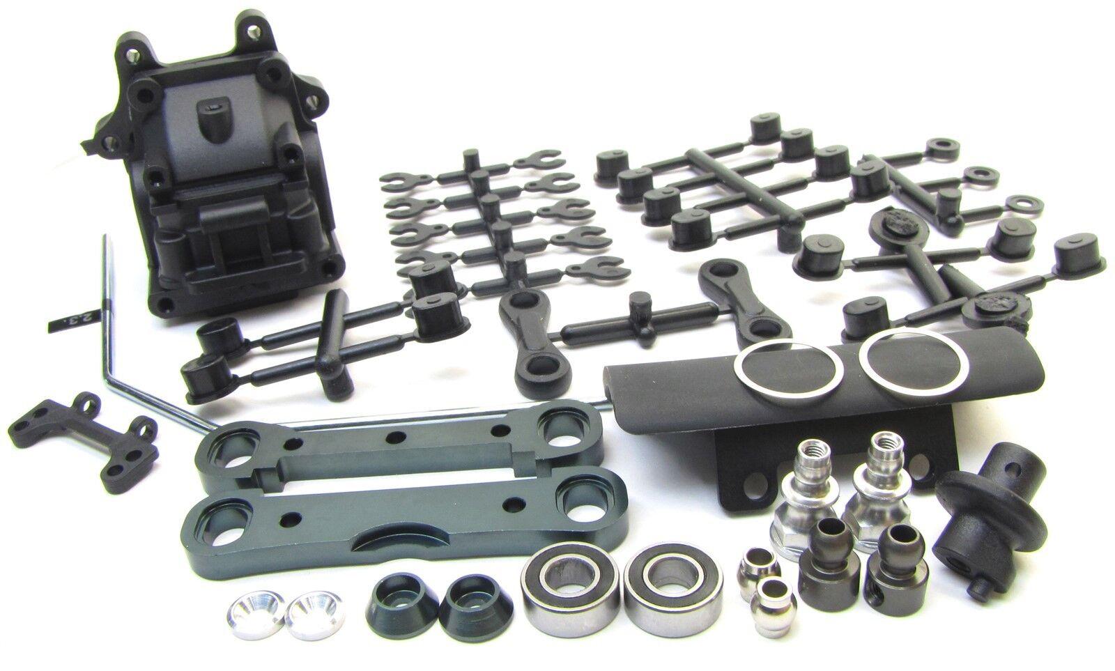 MBX8 FRONT SUSPENSION SET (Sway bulkhead gear box arm mounts bumper MUGEN E2021