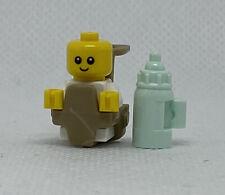 """Baby /""""Baby announcement/"""" Genuine LEGO® Minifigure With Bottle White Shirt"""