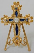 FABERGE IMPERIAL FILIGREE CROSS ON STAND OR CAN BE WORN #G-83
