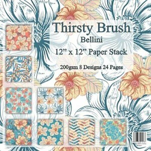 12 X 12 Cojín de papel 5 opciones Hermosa Artesanía Diseños Florales sediento Cepillo y Co