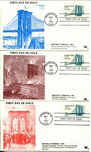 USA-2041-BROOKLYN-BRIDGE-FDC-First-Day-of-Issue-Cover-Stamps-Postage-Collection